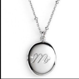 Kate Spade initial M gold locket necklace